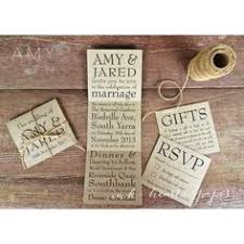 Backyard Wedding Invitation by Rustic Wedding Invitation Pocket Fold With Recycled Cardstock And
