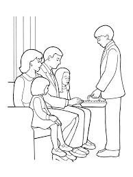 deacon administering the sacrament