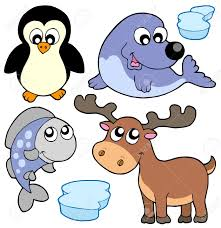 cute winter animals illustration royalty free cliparts vectors