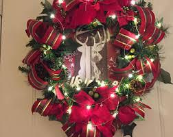lighted wreath etsy