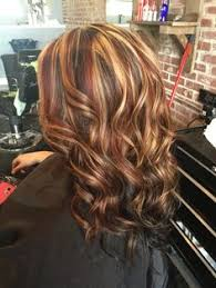 hi and low lights on layered hair chunkyhighlights instagram hair coloring and hair style