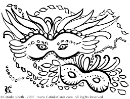 masquerade mask coloring pages coloring