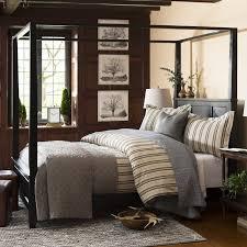 alcott hill marblewood canopy bed u0026 reviews wayfair