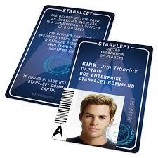 custom id card badge star trek starfleet academy captain