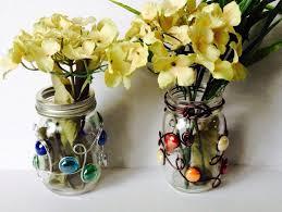 Mason Jar Vases Wedding Mason Jar Vase Beaded Mason Jar Candle Holder Wedding