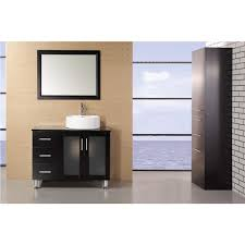 design element dec066b e malibu 36 inch single sink modern