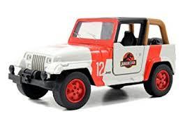 jurassic world jeep jeep wrangler jurassic world park in 1 43 jada toys 24038 amazon