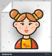 thanksgiving avatars cartoon female avatars face icons vector stock vector 642711391
