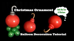 christmas ornament balloon decoration tutorial youtube