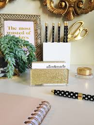 Desk Card Holders For Business Cards Gold Glitter Business Card Holder