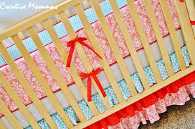Baby Crib Bumpers Creative Mommas Baby Bumper Crib Set Reveal U0026 Tutorial