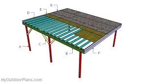 Attached Carport Plans How To Build Flat Roof Double Carport Plans U2013 Handymate Design