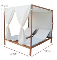 wicker rattan outdoor day bed with fabric canopy rattan outdoor