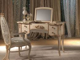 folding dressing table mirror cream wooden vanity table combined with folding rectangle mirror