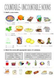 countable uncountable worksheet by julita26