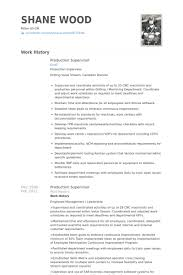 Logistics Supervisor Resume Samples by Production Supervisor Resume Uxhandy Com