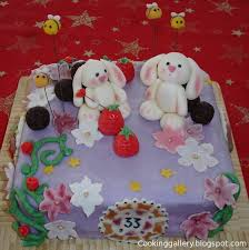 bunny birthday cake cooking gallery