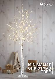 lighted birch tree beautiful indoors or outdoors this birch tree from costco