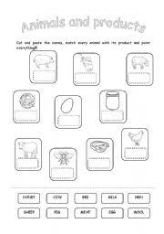 english teaching worksheets animals and their food
