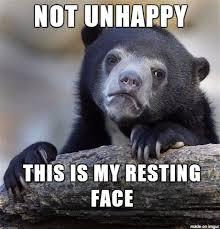 Sad Face Meme - found out today i have a resting sad face meme on imgur