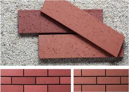 red wire cut split face brick for exterior wall decoration