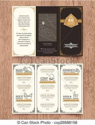 clipart vector of vintage restaurant menu design pamphlet template