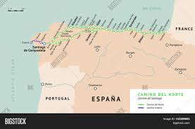Burgos Spain Map by Camino Del Norte Map Camino De Santiago Or The Way Of St James