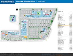 The Florida Mall Map by Northridge Shopping Center Store List Hours Location Oakland