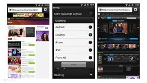 make your android browser a desktop browser lint