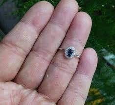 sterling gem rings images Natural dark blue sapphire gem ring natural gemstone ring 925 jpg