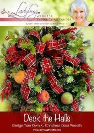 deck halls u201d christmas wreath ladybug wreaths by