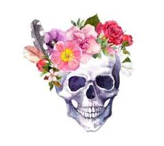 free flower skull wallpapers for your mobile phone by