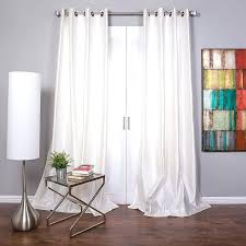 White Silk Curtains White Silk Curtains Faux Silk Curtain Panel White Size X White