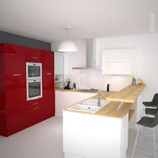 plan de travail separation cuisine sejour cuisine moderne faa ade stecia galerie et plan de travail