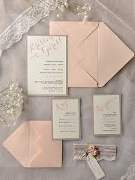 rustic chic wedding invitations plumegiant