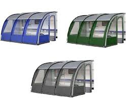 Awnings Accessories Ontario 390 Xl Lightweight Caravan Porch Awning Charcoal Grey
