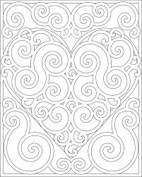swirl heart pattern coloring pages grown ups 13 best images