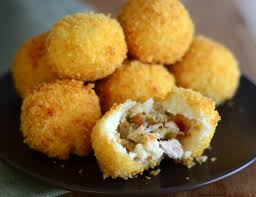 turkey and potato balls baking bites
