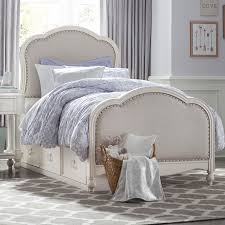 Full Beds With Storage Victoria Panel Twin Bed With Upholstered Tea Stain Woven Fabric