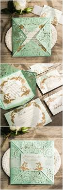 mint wedding invitations wonderful mint green and gold wedding invitations