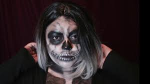 halloween skull makeup video youtube