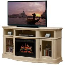 dimplex portobello parchment electric fireplace media console with