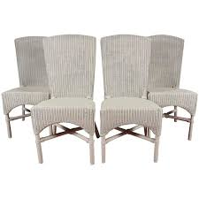 Lloyd Loom Bistro Chair Six Vintage Lloyd Loom Wicker Dining Chairs At 1stdibs