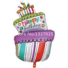 large birthday balloons 1pc happy birthday cake big balls birthday candle foil balloons