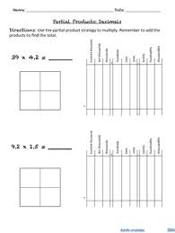 multiplying decimals partial products by katz u0027s creations tpt