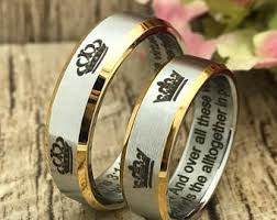 king and crown wedding rings 6mm crown ring etsy