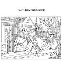 paul revere s ride book usa printables the ride of paul revere coloring pages america