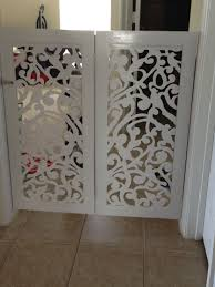 Interior Gates Home Diy Custom Pet Gate Latice Panels Are From Home Depot Web Site