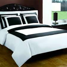 Bed Sets Black Black And White Hotel Alternative Bed In A Bag Free