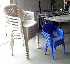Stackable Plastic Patio Chairs Bemis 48